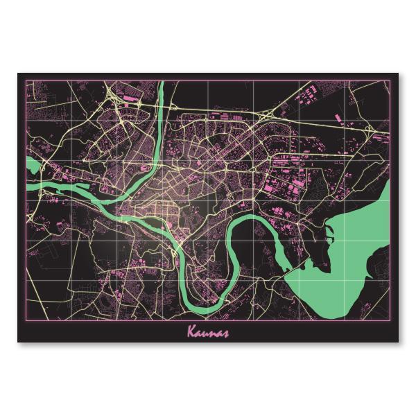 Kauno 80's žemėlapis