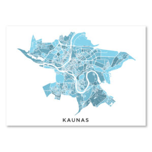 Kauno melsvas žemėlapis