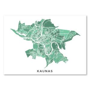 Kauno žalsvas žemėlapis